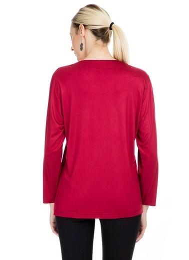 Via Dante Via Dante Kadın V Yaka Bluz Kırmızı